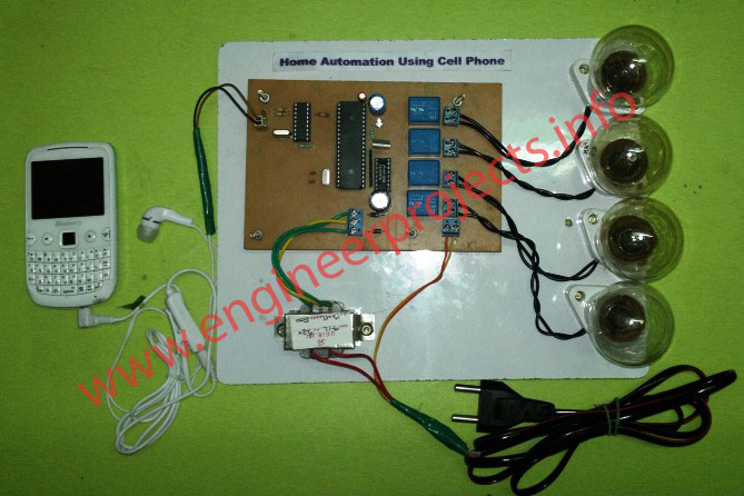 Home Automation Using Cell Phone, Home Appliance control