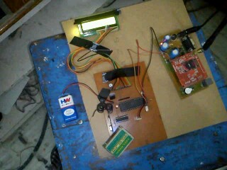 Home security system using GSM