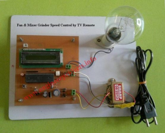 Fan & Mixer Grinder Speed Control by TV Remote